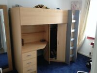 High Sleeper Bed (used but in good condition)