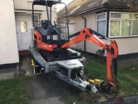 Mini digger to hire in London
