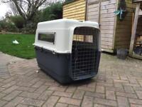 Plastic dog travel crate
