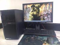DESKTOP GAMING COMPUTER PC INTEL i3 2.93GHz 8GB RAM 500 GB DVDR