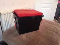 SEATBOX + SEAT BOX CUSHION AND STRAP, SEA OR COARSE FISHING Lightweight Beginner