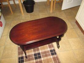 mahognany coffee table