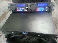 CITRONIC CD1X TWIN DUAL KARAOKE DISCO CD PLAYER