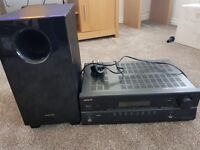 Onkyo AV Receiver and subwoofer