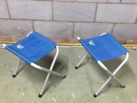 Two folding stools