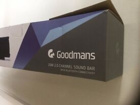 Goodmans tv soundbar new boxed never used.