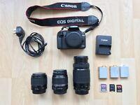 Canon 500D + 3 Lenses