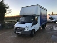 Ford transit 115t350 Lwb curtain sider truck with barn doors