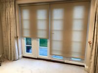 Matching pair of floor length blinds