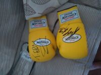 Sighed boxing gloves by Tyson Fury&Ricky Hatton