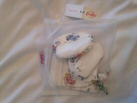 Cath kids designer hat and booties set 0-6 months