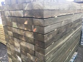 """Cheap Timber fencing posts 4"""" x 4"""" / 6"""" x 3"""" / 5"""" x 3"""" /7ft 8ft 10ft long pressure treated"""