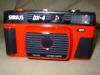 Sirius DX-4 Red Vintage 1980s Compact Lomo Retro 35mm Film Camera Outfit with black carry case