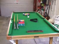 Riley 6 foot by 3 foot snooker table
