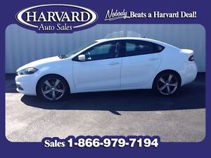 2014 Dodge Dart GT, Leather, Nav, Moonroof, Bright White Clear