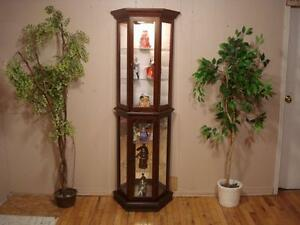 Lovely Walnut Curio Cabinet