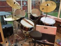 5 Piece drumKit plus cymbals: ideal starter kit Offers IRO £99