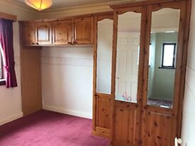 Single and double fitted pine wardrobes