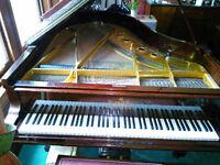 """Steinway Grand Piano c1900 - Mahogany - 6' x 4'10"""""""