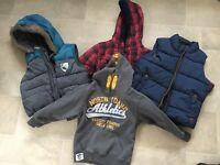 Bundle of 4 boys boys warmers / jumpers age 3 - 4
