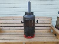Large Gas bottle converted to a large camper van log burner