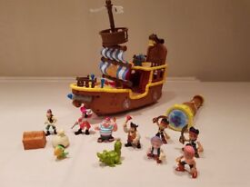Jake & the Neverland Purate ship & figures