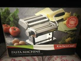Brand new in box pasta machine. Perfect birthday gift for the cook in your life.