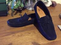Asos men's blue suede driving shoes size 10