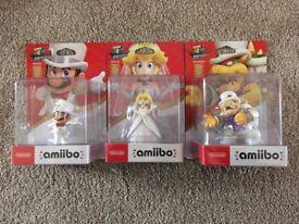 Nintendo Amiibo Wedding Bowser Mario & Peach (Mario Odyssey)