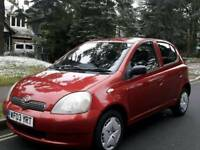 TOYOTA YARIS 1.0L T3 2003 5DOOR 2LADY OWNERS 13 SERVICES MOT TILL18/5/2018 HPI CLEAR