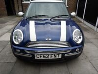 Mini Cooper Hatchback 1.6 With MOT 02/12/18 (Spares or Repair) £600ono.