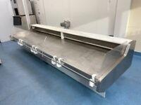 3.75m refrigerated fish display counter / fish fridge