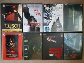 Horror dvds 8 in excellent condition inc cases