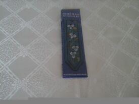 Cross Stitch Bookmark Kit of Heartsease