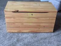 Pine wooden storage box