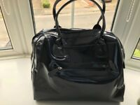 Marks and Spencer French Navy Large Patent Bag