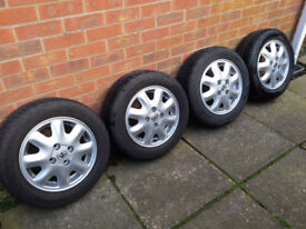 Classic Vauxhall 8 Spoke 142 Inc. Tyres