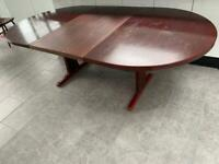 Extendable 8-10 sitter oblong table + 4 Chairs