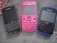 Blackberry BOLD CURVE and NOKIA for parts only, all cosmetically very good