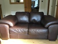 Beautiful brown leather 2 seater sofa. Excellent condition. £80 Ono.