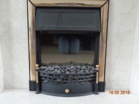 Electric Fire with brass fittings and coals