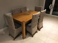 Oak table with 6 chairs