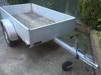 "Anssems aluminium 6ft 7"" X 3ft 4"" trailer 13 wheels"