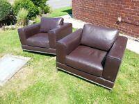 Super comfortable retro armchairs