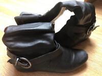 Faith Black knee high boots size;5