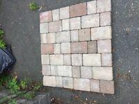 Reclaimed driveway/patio tumble blocks