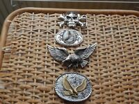 large belt buckles all in good condition four in number.