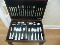 Community Silver Plated 74 Piece Cutlery Set for 8 with Table