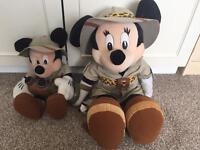 Minnie and Mickey plush toys