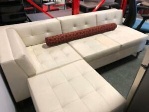 Gunlocke Leather Sectional Couch